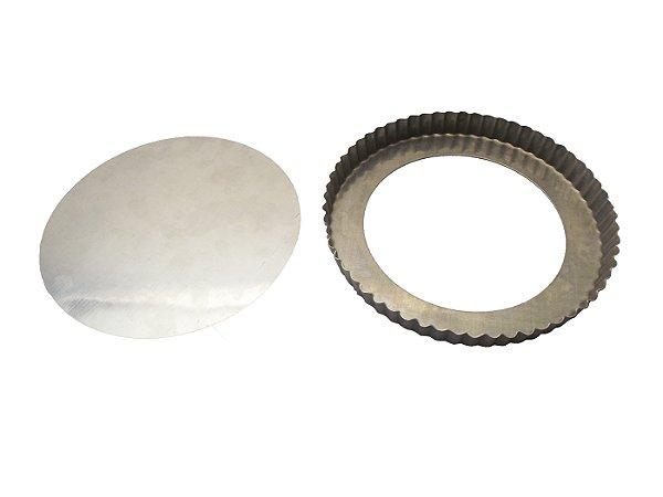 Forma de Aluminio para Torta De Maca com Fundo Falso Walpan 25 Cm