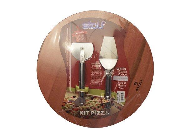 Conjunto para Pizza com 3 Pecas Stolf