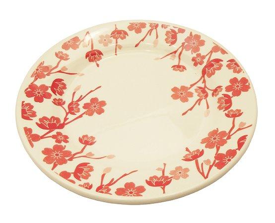 Prato de Porcelana De Sobremesa Decorado Donna Jardim Oriental Biona Oxford