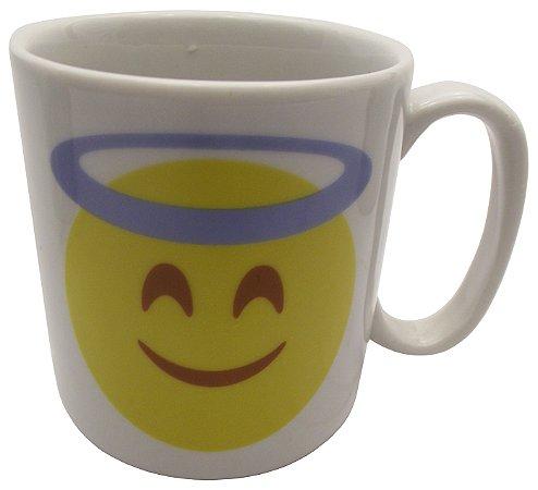 Caneca em Ceramica Emoticon Anjo Koisas de Kozinha 300 Ml