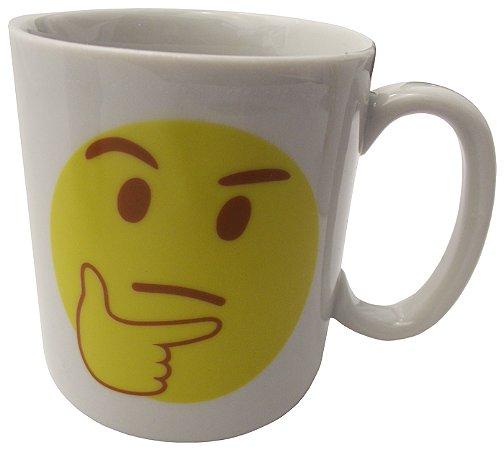 Caneca em Ceramica Emoticon Pensativo Koisas de Kozinha 300 Ml