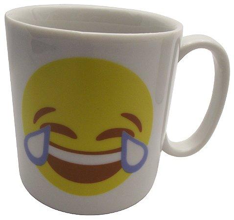 Caneca em Ceramica Emoticon Chorando de Rir Koisas De Kozinha 300 Ml