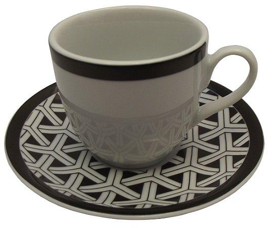 Xicara de Cafe com Pires em Porcelana Coup Germer