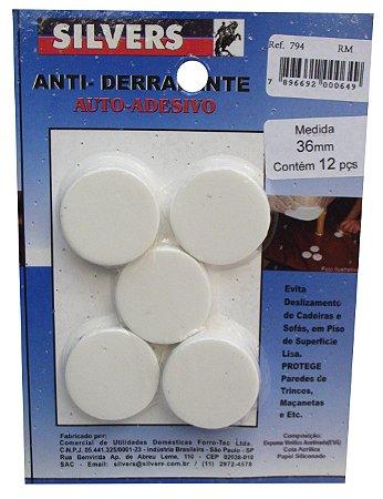 Protetor para Redondo M Piso Auto-adesivo Silver's Branco
