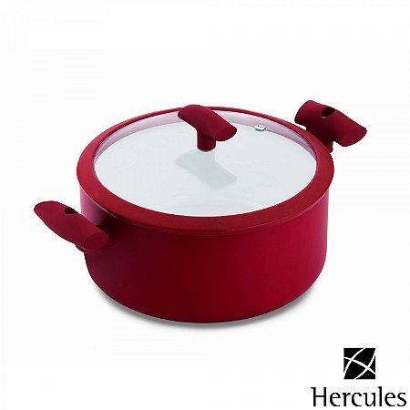 Cacarola com Tampa Hercules Mundial Vermelho 18 Cm