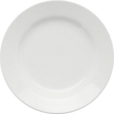 Prato de Porcelana Liso Raso Donna Branco Biona Oxford Branco