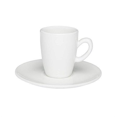 Xicara de Porcelana para Cafe Expresso com Pires Oxford