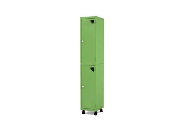 Roupeiro de Aco 1 Vao 2 Portas com Fechadura Pandin Verde Miro  1,90 M