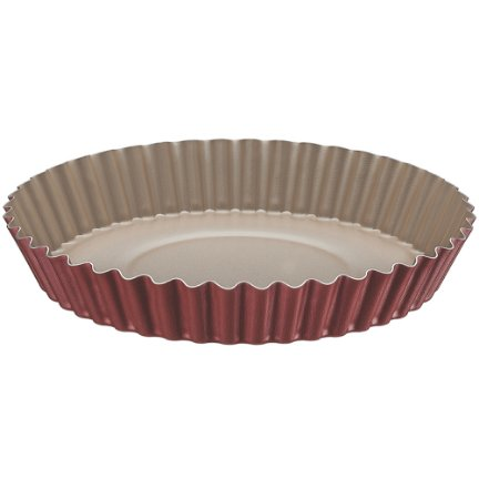 Forma Redonda Crespa para Bolo e Torta com Revestimento Antiaderente Brasil Tramontina Vermelho 22 Cm