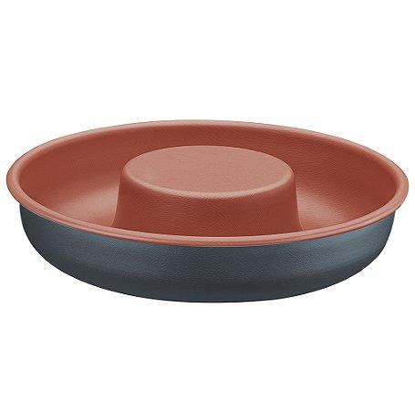 Forma Redonda para Bolo de Aluminio Antiaderente Bakery Tramontina 24 Cm
