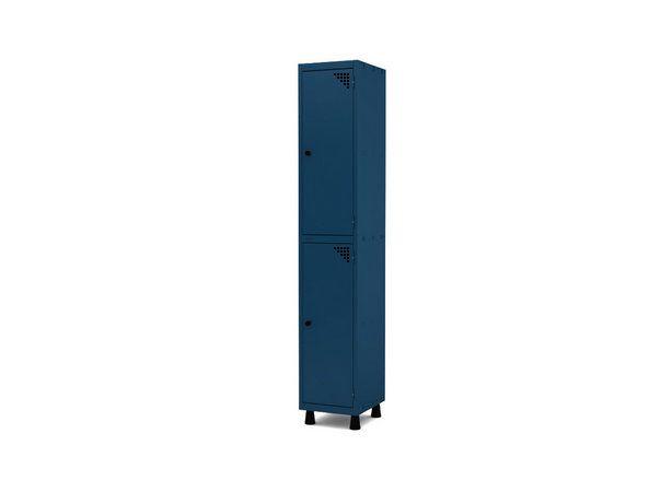 Roupeiro de Aco 1 Vao 2 Portas com Pitao Pandin Azul Del Rey  1,90 M