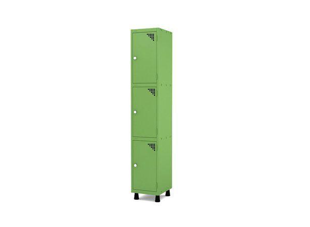 Roupeiro de Aco 1 Vao 3 Portas com Fechadura Pandin Verde Miro  1,90 M