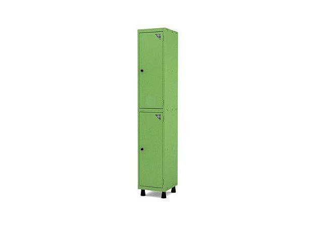 Roupeiro de Aco 1 Vao 2 Portas com Pitao Pandin Verde Miro  1,90 M