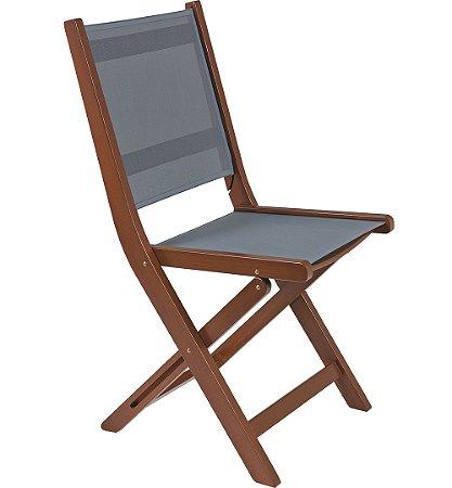 Cadeira de Madeira Dobravel em Jatoba com Acabamento Eco Blindage Tramontina 57 Cm