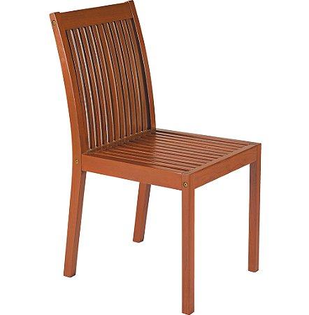 Cadeira Fixa de Madeira Jatoba Natural - Fitt Tramontina 90 Cm