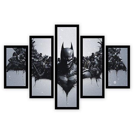 Quadro Mosaico 5 Partes Diferentes Batman Quero Mais Quadros
