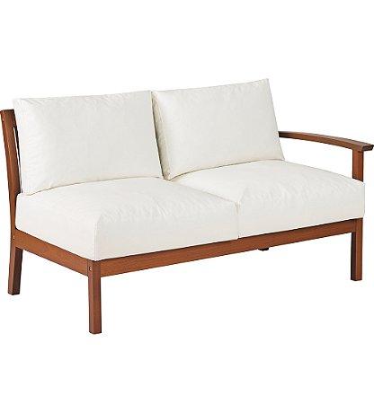 Sofa em Jatoba com Acabamento Eco Blindage e Estofado Impermeavel Tramontina Branco 72 Cm