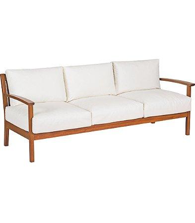 Sofa 3 Lugares com Bracos C  Madeira Jatoba e Estofado Acqua Block Tramontina