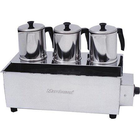 Esterilizador Inox com 3 Bules Com Termostato Marchesoni 220 V, 750 W