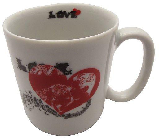 Caneca em Ceramica Namorados  love'  Koisas de Kozinha 300 Ml