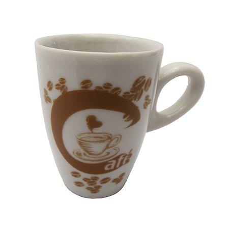 Caneca em Ceramica para Cafe cappuccino  cafe Graos  Koisas de Kozinha 150 Ml