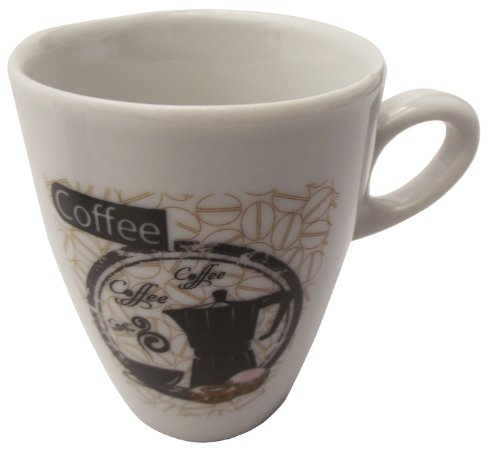 Caneca em Ceramica para Cafe cappuccino  coffe Black  Koisas de Kozinha 150 Ml