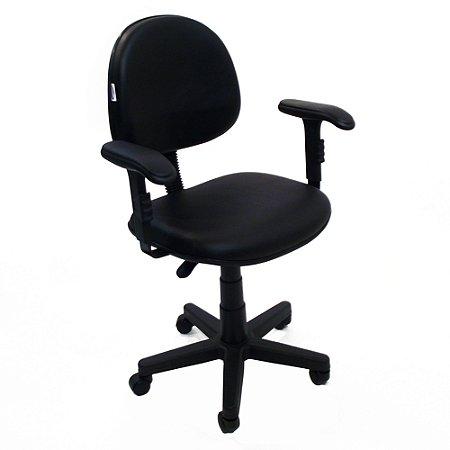 Cadeira Executiva Giratoria com Braco Regulavel em Tecido Solid Preto