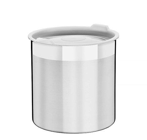 Pote para Mantimentos Inox com Tampa Plastica Cucina Tramontina 12 Cm