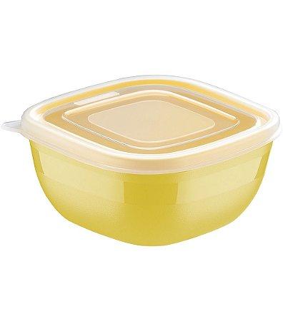 Pote de Polipropileno com Tampa Mixcolor Tramontina Amarelo  300 Ml