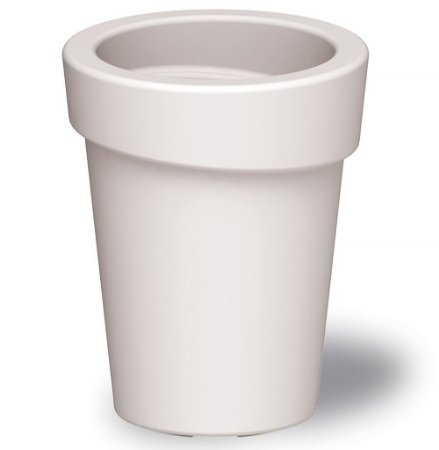 Vaso em Polietileno Casa Delta Tramontina Branco 44 Cm