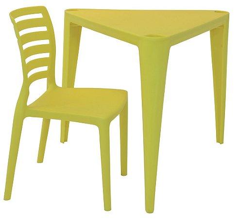 Mesa e Cadeira Infantil Sofia Tramontina Amarelo 63 Cm