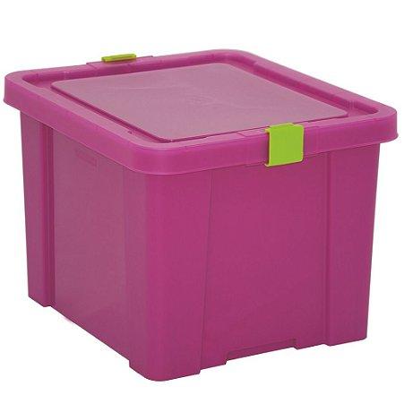 Caixa Organizadora Kids 30l Tramontina Rosa 30 Cm