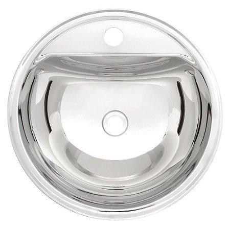 Lavabo Semicirculo Inox Alto Brilho Perfecta Tramontina 34 Cm