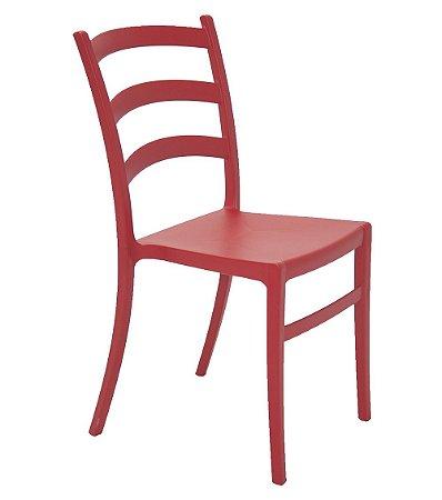 Cadeira Sem Bracos em Polipropileno Summa Tramontina Vermelho 50 Cm