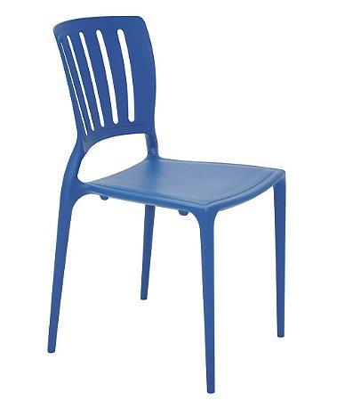 Cadeira em Polipropileno Encosto Vazado Summa Tramontina Azul 82 Cm
