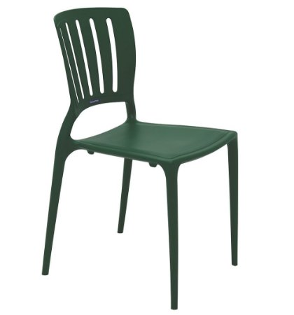 Cadeira em Polipropileno Encosto Vazado Summa Tramontina Verde 82 Cm