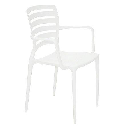 Cadeira com Bracos Encosto Vazado Summa Tramontina Branco 84 Cm