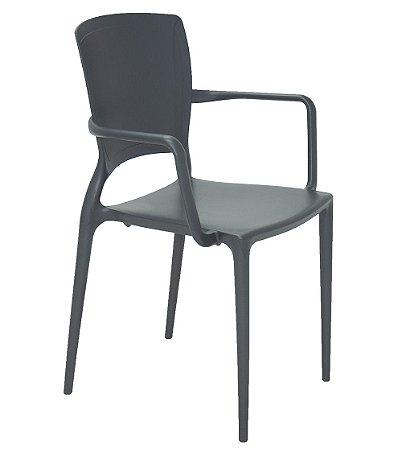 Cadeira em Polipropileno Summa Tramontina Grafite 84 Cm