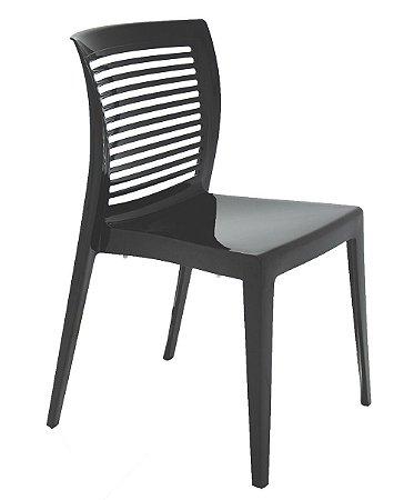 Cadeira em Polipropileno Encosto Vazado Summa Tramontina Preto 82 Cm