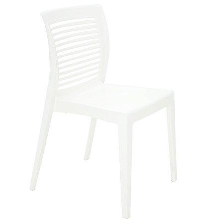 Cadeira em Polipropileno Encosto Vazado Summa Tramontina Branco 82 Cm