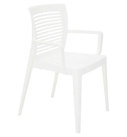Cadeira em Polipropileno Encosto Vazado Summa Tramontina Branco 83 Cm