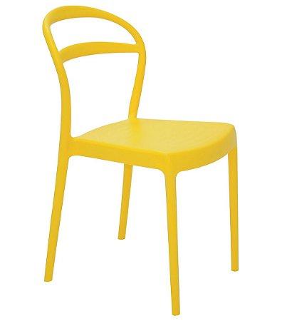 Cadeira em Polipropileno Encosto Vazado Summa Tramontina Amarelo 80 Cm