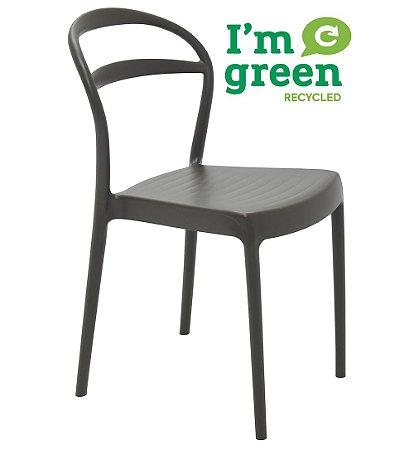 Cadeira em Polipropileno Eco Encosto Vazado Summa Tramontina Marrom 80 Cm