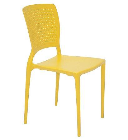 Cadeira Sem Bracos em Polipropileno Summa Tramontina Amarelo 84 Cm