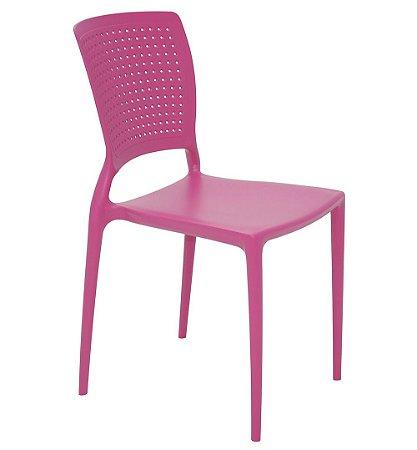 Cadeira Sem Bracos em Polipropileno Summa Tramontina Rosa 84 Cm