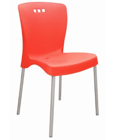 Cadeira Sem Bracos e Pernas Polidas Summa Tramontina Vermelho 90 Cm