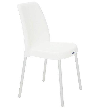 Cadeira em Polipropileno Pernas Anodizadas Summa Tramontina Branco 52 Cm