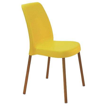Cadeira em Polipropileno Base Aluminio Summa Tramontina Amarelo 52 Cm