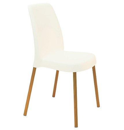 Cadeira em Polipropileno Base Aluminio Summa Tramontina Branco 52 Cm