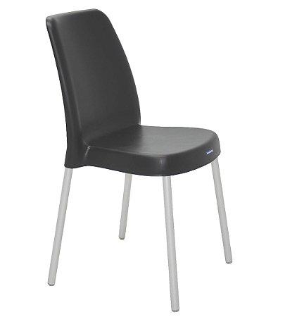 Cadeira Sem Bracos Pernas Anodizadas Summa Tramontina Preto 52 Cm